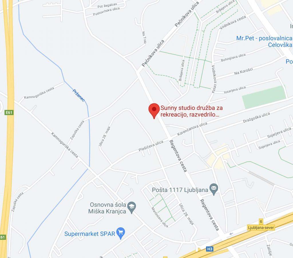 Zemljevid - Regentova cesta 37